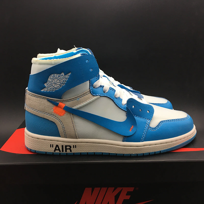 "Off-White x Air Jordan 1 Retro High OG ""UNC"" ""Dark Powder Blue"" AQ0818-148"