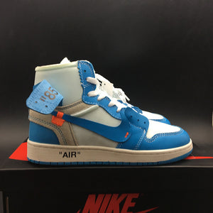 "Off-White x Air Jordan 1 Retro High OG GS ""UNC"" ""Dark Powder Blue"" AQ0818-148"
