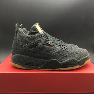 "Levi's x Air Jordan 4 Retro NRG GS ""Black Denim"" AQ9103-100"