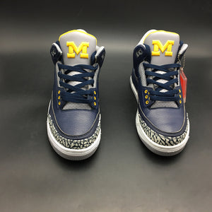 "Air Jordan 3 Retro ""Michigan"" PE AJ3-820064"