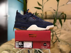 "Levi's x Air Jordan 4 Retro GS NRG ""Denim"" AO2571-401"