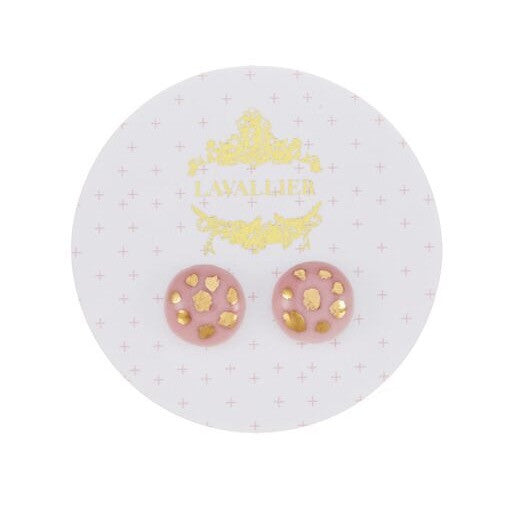 Pink domed studs Polka