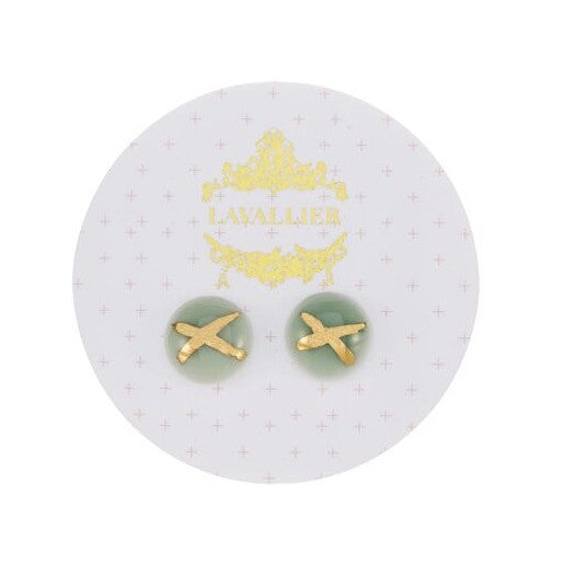 Green domed studs X