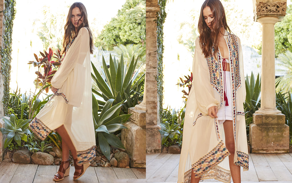 Moroccan nights cape and white shorts