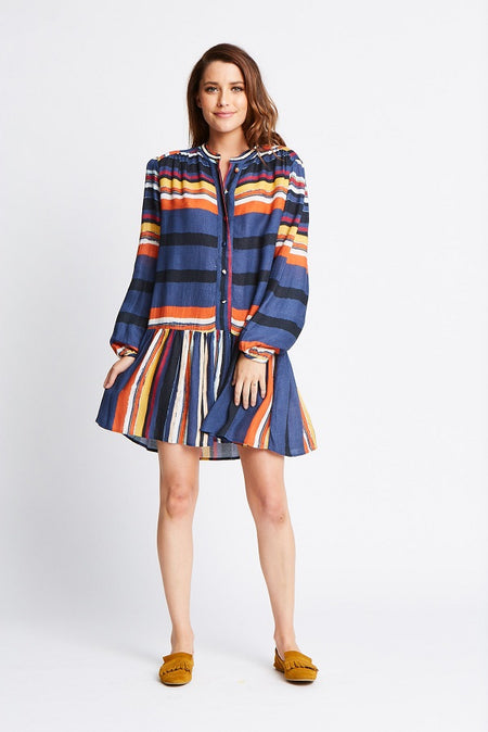 SALMA SHIRT DRESS - MIDNIGHT BLUE