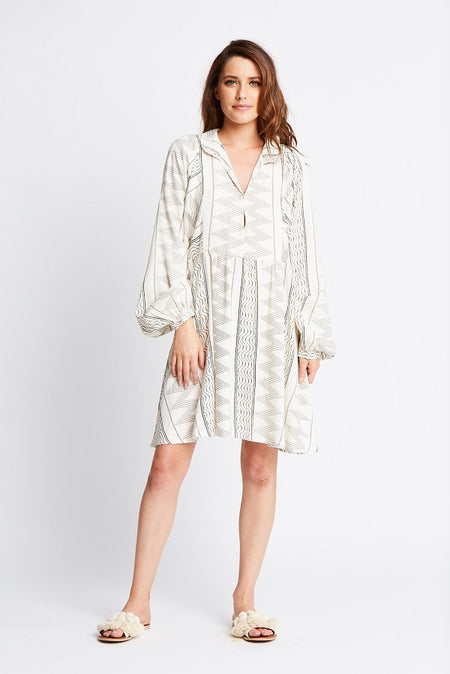 TUNISIAN FLOAT SHIRT DRESS