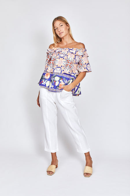 SORRENTO EMBROIDERED TOP