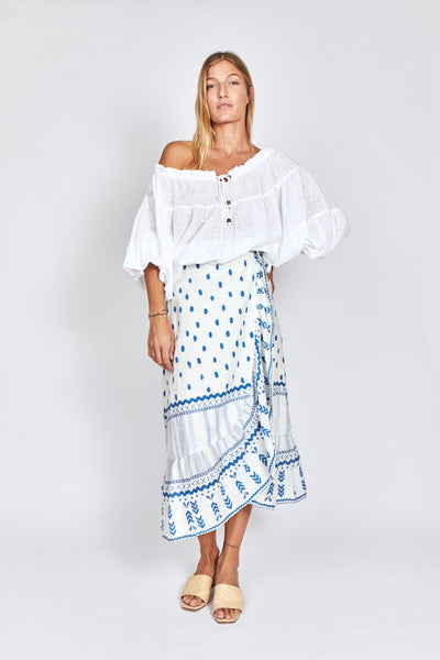 Solito Poncho Top White
