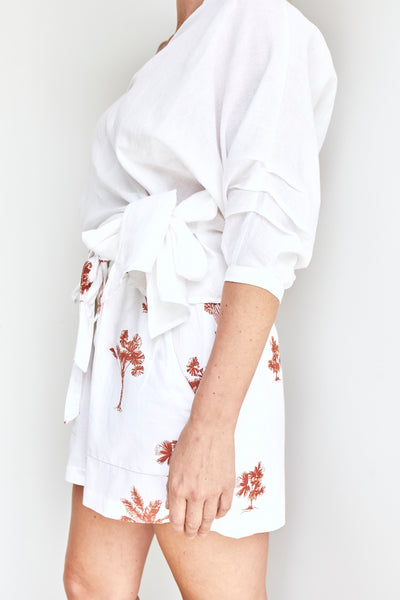 Solito Wrap Top White