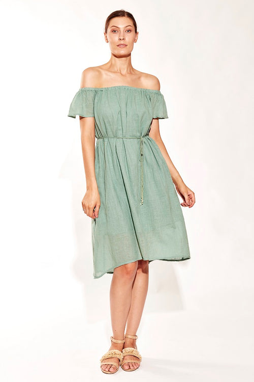 SUNDRENCH MIDI DRESS MINT