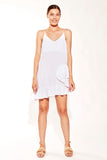 Solito Ruffle Singlet Dress White