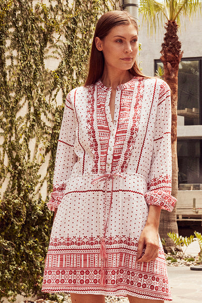 POSITANO LATTICE DRESS