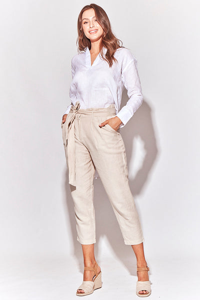 SALMA PLEAT PANT - NATURAL