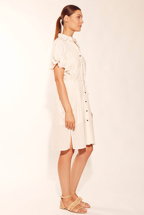 SUNDRENCH SHIRT DRESS CREAM