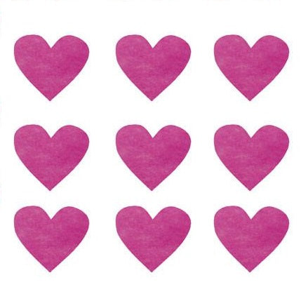 pink heart confetti cherry decorations diy crafts