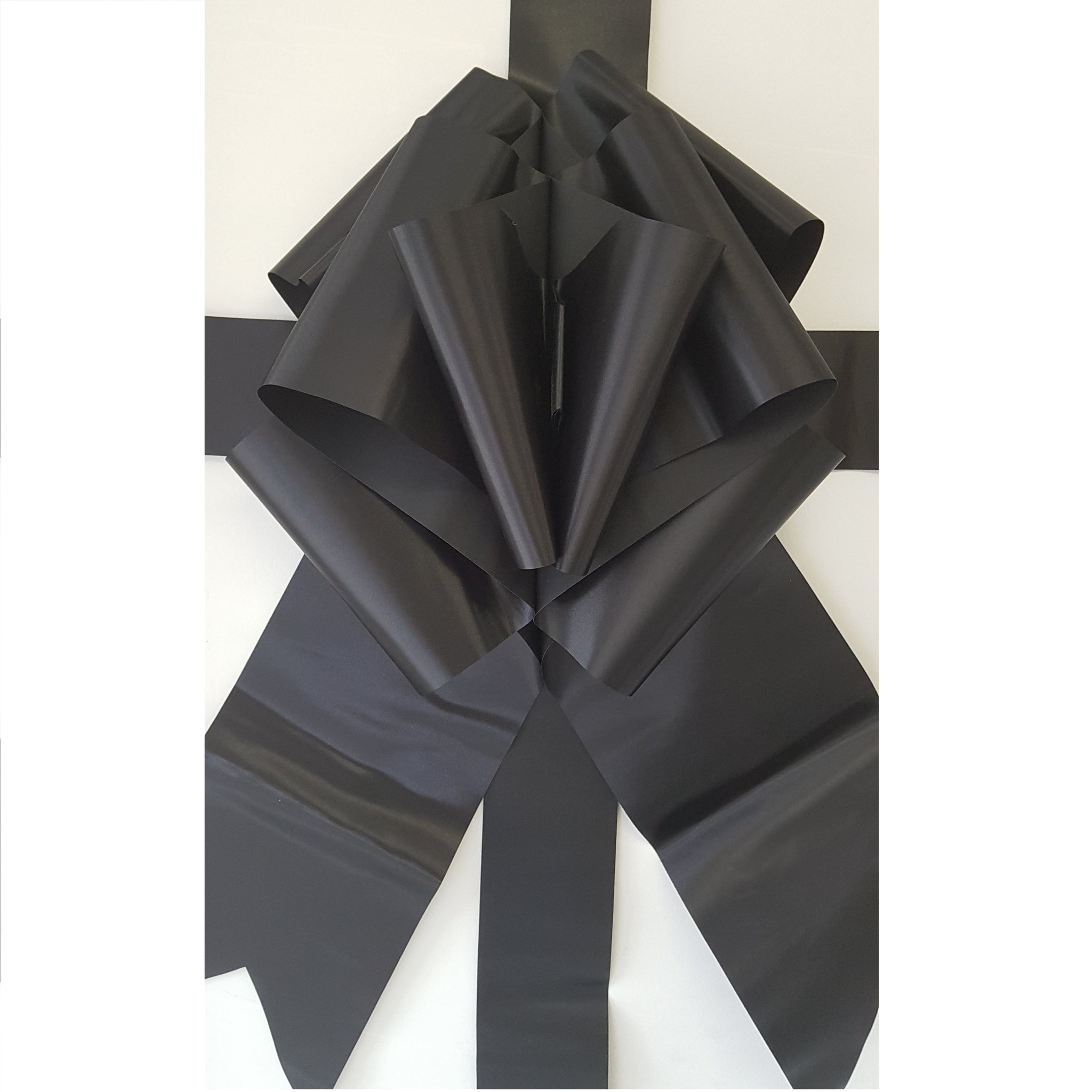 black giant door bow big bow cherry ribbon