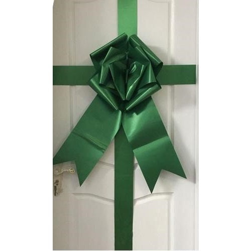 green giant door bow cherry ribbon big bow