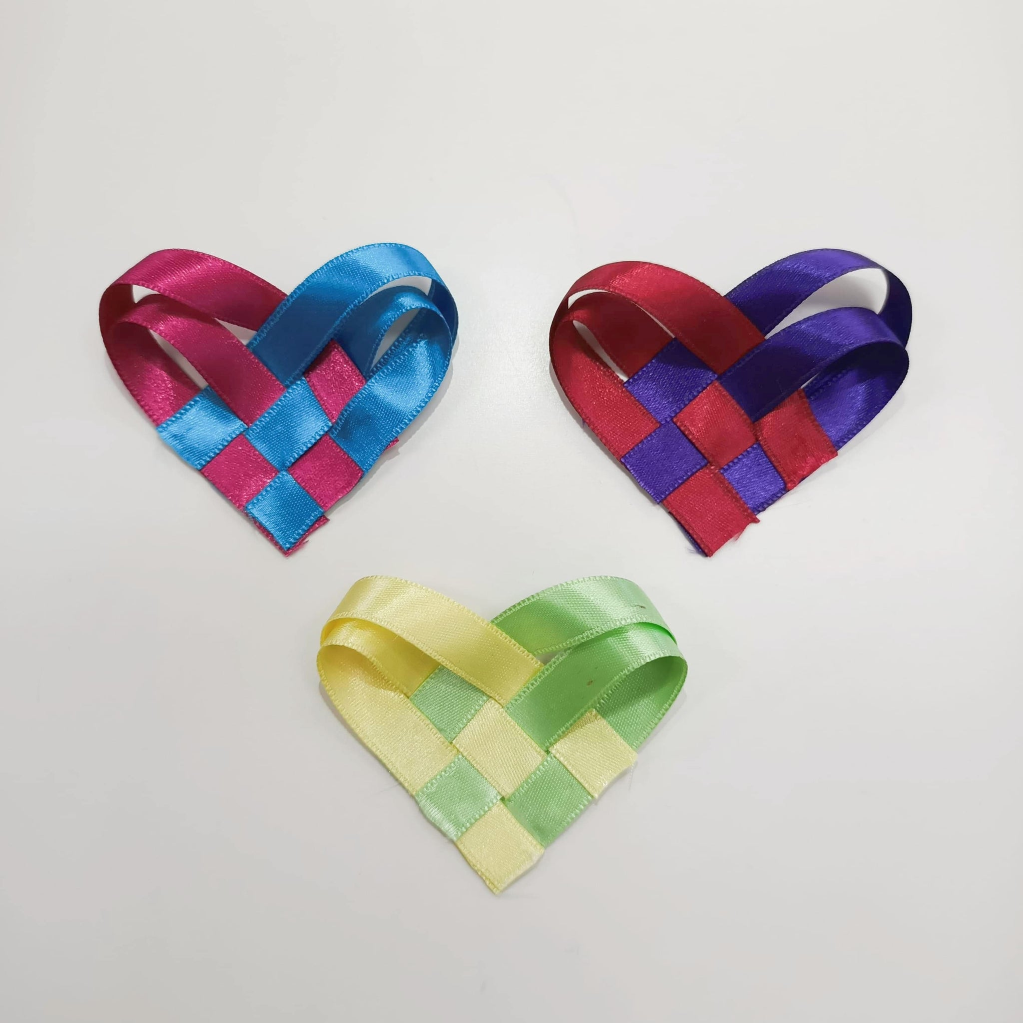 Woven Heart Ribbon Valentines Day Craft DIY
