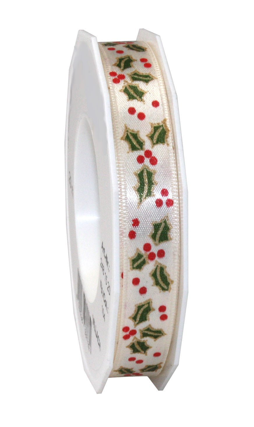 Mistletoe cream printed ribbon christmas