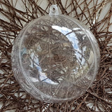 80MM clear plastic baubles (Pack of 10pieces)