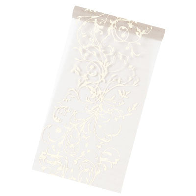 Orient Organza Table Runner 5M-28CM-001-S ($3.63/m)