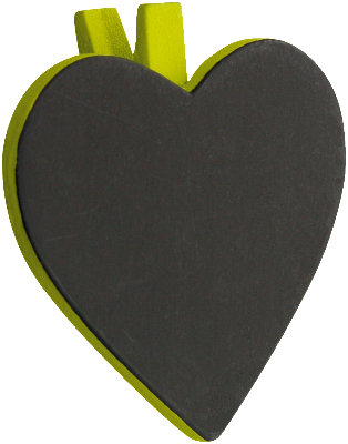 Heart Blackboard Placecard 06P-010-S ($1.51/pc)