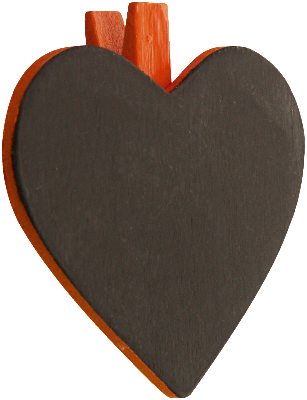 Heart Blackboard Placecard 06P-012-S ($1.51/pc)