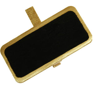 Metallic Rectangular Blackboard Placecard Peg 12P-003-S ($0.60/pc)