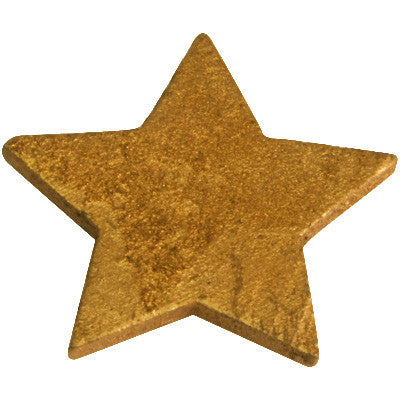 Metallic Wooden Star 12P-003-S ($0.38/pc)