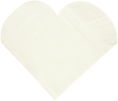 Serviette Heart Shaped 20P-001-S ($0.32/pc)