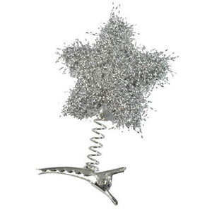 6 Tinsel Star Peg - Silver ($0.90/pc)