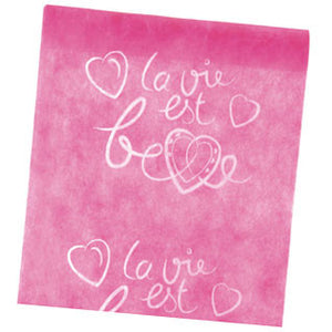 "5m ""La vie est belle"" Table Runner ($3.63/m)"