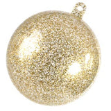 Gold Glitter Bauble Bonbonniere  10 x 50MM ($0.75 /piece)