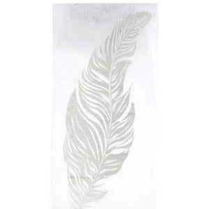 Glittered Feather Table Runner 5M-300MM-001-S ($3.63/m)