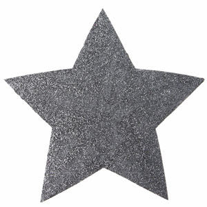 Glittered Drink Coaster Star - Silver