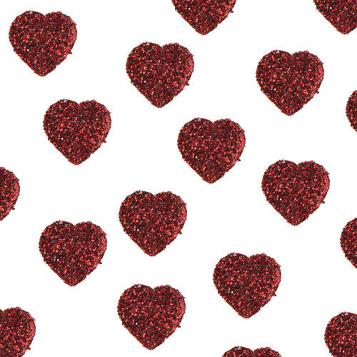 Glittered Heart Confetti 50P-007-S ($0.10/pc)