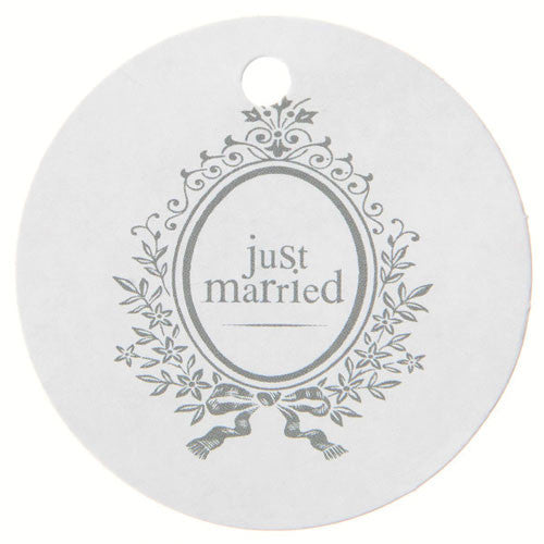 'Just Married' Name Tag