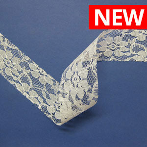 Derby Cut Edge Lace-Cream-40MM