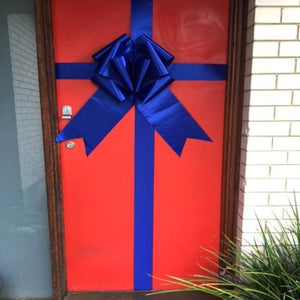 Giant Door Bow (Pack of 10)-Blue