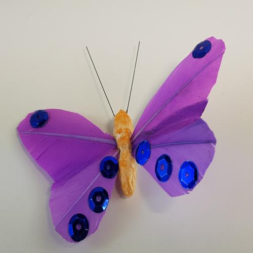 1X FEATH. BUTTERFLY-LILAC (24pcs) (RRP $4.54)