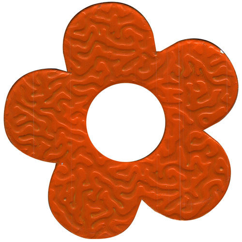 100pcs Gifttag Tin Flower - Orange ($0.05/pc) (RRP $4.5)