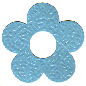 100pcs Gifttag Tin Flower - Baby Blue ($0.05/pc) (RRP $4.5)