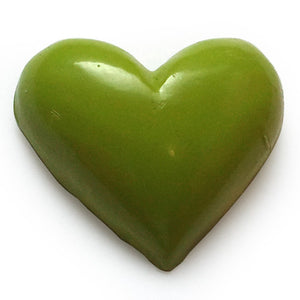 Poly Heart C-2019-25pcs Green (RRP $7.23)