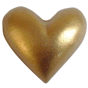 Poly Heart C-2021-25pcs Gold (RRP $2.68)