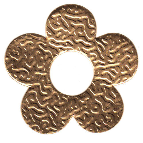 100 Gifttag Tin Flower - Gold ($0.05/pc) (RRP $4.5)
