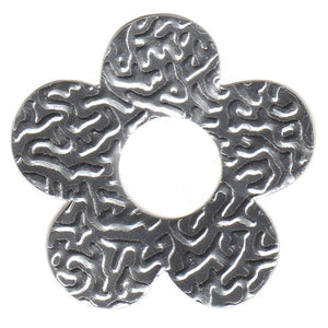 100pcs Gifttag Tin Flower - Silver ($0.05/pc) (RRP $4.5)