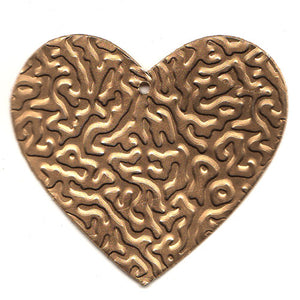 Tin Heart C-2096-100pcs Gold (RRP $4.5)