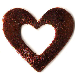 100 Gifttag Hollow Heart C-3019 Bronze ($0.05/pc) (RRP $4.5)