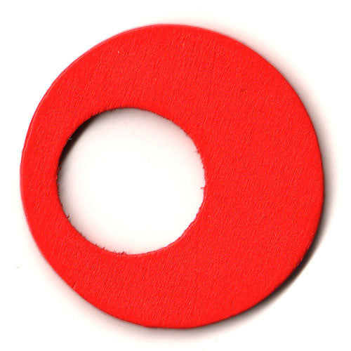 100pcs Hollow Circle - Red ($0.05/pc) (RRP $4.5)