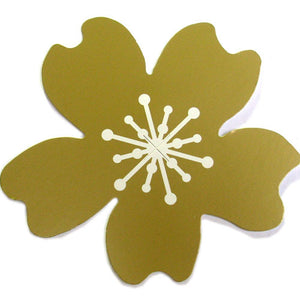 50 Paper Flower Tag - Gold ($0.36/pc) (RRP $18.14)